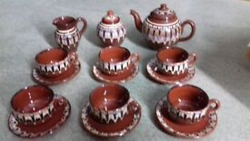 MOROCCAN STYLE TEA SET RUSTIC STILL BOXED