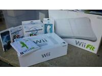 Wii console, WiiFit etc