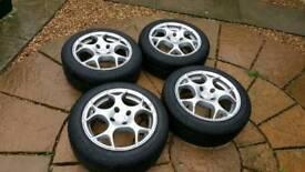 """Tsw venom alloy wheels 15"""" 4x100 nova corsa b renault 5 clio 16v"""