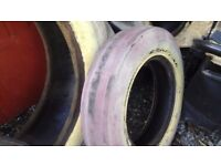 Goodyear tractor tyres 6.00 x 16 and 12.4.32 used worn