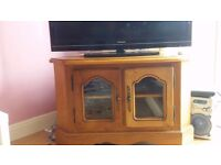Oak TV Stand and Cabinet