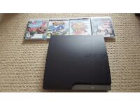 Ps3 with games and control.