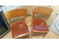 Pair of vintage 70's kitchen chairs