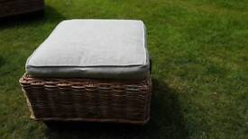 Hartman wicker foot stall - outdoor or conservatory