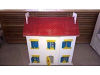 Dolls Wooden House with wooden furniture