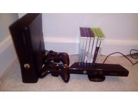 Xbox 360 250GB + Kinect + Games
