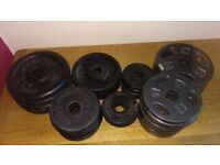 "40kg (Total) Standard 1"" Dumbell/Barbell Weight Plates"