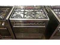 Range Cooker. Smeg 80cm Dual Fuel. Stainless Steel. As New.