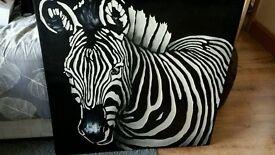 Various zebra items