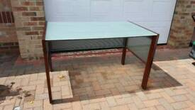 Glass topped desk / table ( Student / Office )