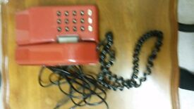 Retro Vintage Red 1970/80 push button good condition few marks wear