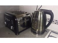 Matching kettle and toaster in gunmetal black by Morphy Richards