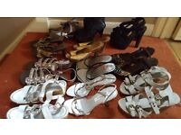 Assortment of womens sandals size 3 some little wear some brand new