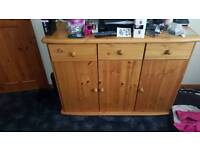 Large real wood side board tv unit