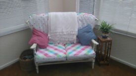 Vintage two seater arm chair