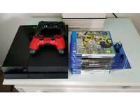 500GB PS4 with two controllers and eight games