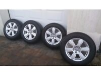 "Genuine audi alloy wheels & tyres, 17"" excellent condition! 5X112! BARGAIN! OPEN TO SENSIBLE OFFERS!"
