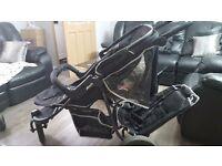 Hauck Freerider Stroller (Black/Silver) Pushchair Double