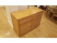 BRAND NEW Oak furniture land Chest of Drawers RRP £429