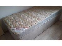 Silentnight 3ft single divan bed and mattress. Good condition.