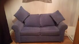 Pale blue sofa bed