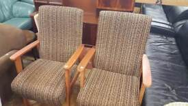 Pair Of Vintage Blindcraft Fireside / Occasional Armchairs £30 Each