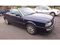 Audi Cabriolet 2.6L 1996, 106k manual gb getting rare, prices on the rise for these modern classics.