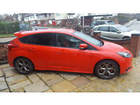 Ford Focus ST-2 2014 (250ps) Red, Very Low Mileage, 1 Owner from new