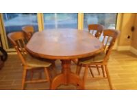 Pine Oval Dining Table & 6 Chairs