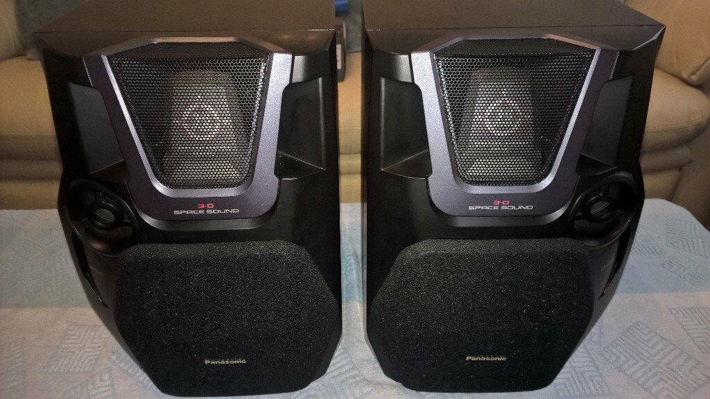 PANASONIC SB AK40 BOOKSHELF STEREO SPEAKERS AMAZING 3D SOUND FULLY WORKING EXCELLENT CONDITION