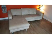 Sofa 3 piece suite, 2 seater 3 seater with chaise and single seater