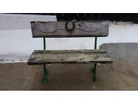 Old time 2 seater bench. Antique item.
