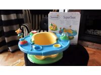BOXED SUMMER INFANT SUPER SEAT 3-STAGES & HAS MULTI FUNCTIONS RRP£40.00