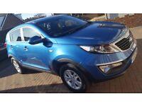 Kia Sportage, 2013, 1.6 petrol. Metallic blue.