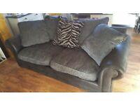 Three seater sofa Grey very good condition £75