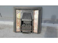 Repro Period Wrought Iron Electric Fireplace