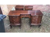 Writing desk antique 2 bedside tables antique