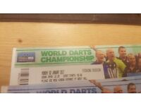 2 X TIERED SEAT TICKETS FOR WORLD DARTS CHAMPIONSHIP FINAL AT ALEXANDRA PALACE MONDAY 2ND JAN 2017