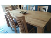 Dining Room Table, Sideboard, & 6 chairs