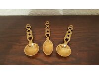 Vintage Brass Welsh Love Spoons - £6 each - Ideal Gifts