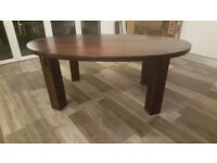 Solid oak mango dining table