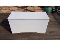 Large white blanket box chest or toy storage