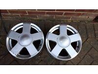 2 x Fiesta 15 inch alloy wheel