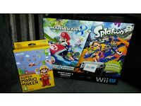 Nintendo Wii U Premium Pack With Super Mario Maker Game. Mint and Boxed