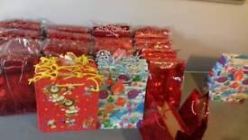 Job lot Shiny metallic gift bags