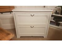 Ikea Aspelund White Chest of Drawers, 2 Drawers, Good Condition