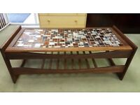 Mid Century Tiled Coffee Table