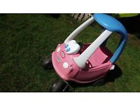 Pink tikes cozy coupe car