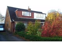 3 Bedroom semi detached house, 2 gardens, conservatory, garage, in Pilling village by the sea