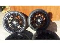 18 inch MV2 ALLOYS WITH EXCELLENT CONDITION TYRES